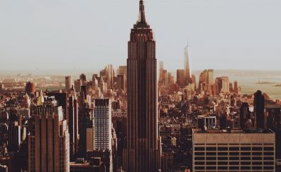 Buildings, Empire State Building, city, new york, 4k