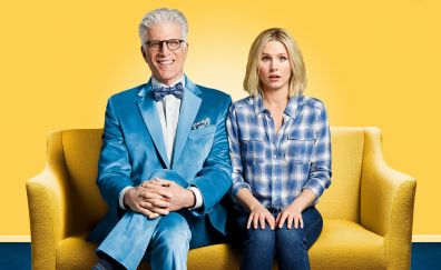 The good place, tv series, Kristen Bell, Ted Danson