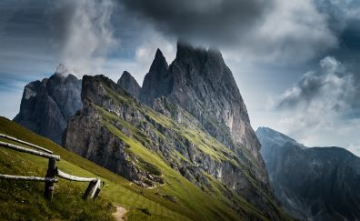 Mountains, Dolomites, landscape, nature