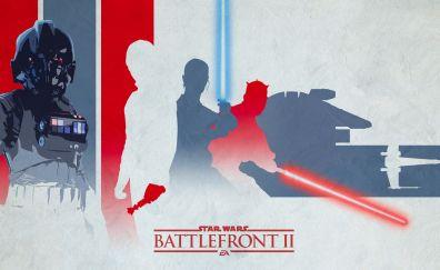 Star wars battlefront 2, light, darth vader, artwork
