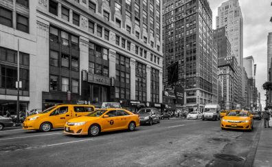 New york city, cabs, taxi