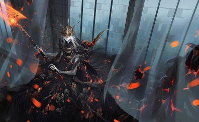 Dark souls iii, fan art, warrior, dark