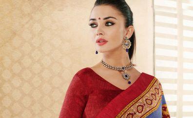 Amy jackson, model, Indian saree