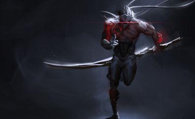 Genji, overwatch, run, ninja