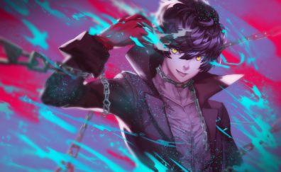 Akira kurusu, joker, persona 5, video game, 4k