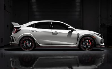 Honda Civic Type R, white car