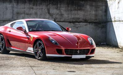 Ferrari 599 GTB, red sports car, front view