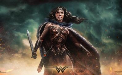 Wonder Woman movie 2017 artwork