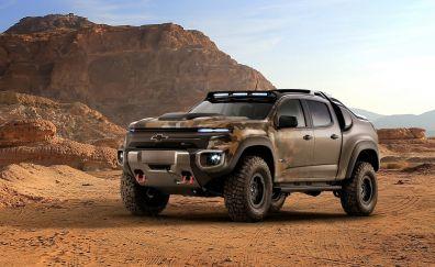 Chevrolet Colorado, truck, desert