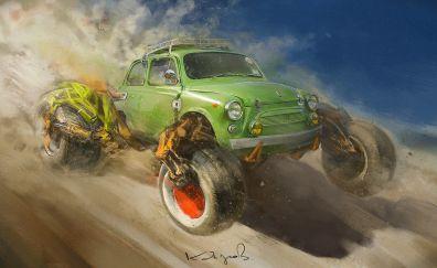 Race car, art