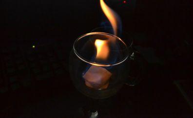 Fire in glass
