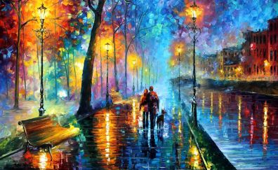 Colorful artwork of night