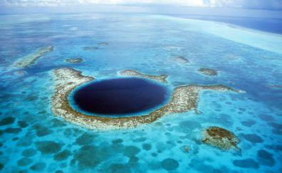 Charming blue hole