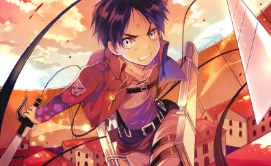 Eren Yeager, Attack on Titan, anime