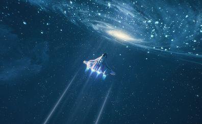 Space, spaceship, fantasy