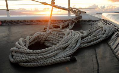 Rope sail sailing boat