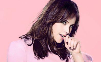 Beautiful actress, brunette, Felicity Jones