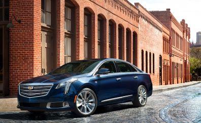 2018 Car, Cadillac XTS, side view, street