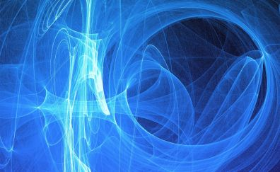 Light, glow, blue abstract