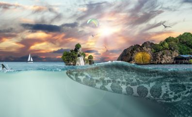 Sea, island fantasy