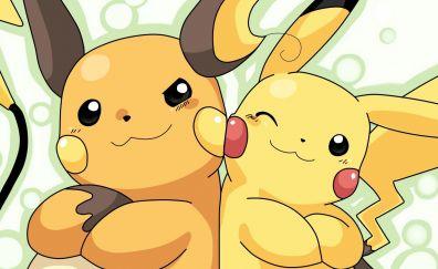 Pikachu, Raichu, pokemon, anime