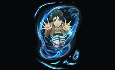Eren Yeager into water bubble, anime boy