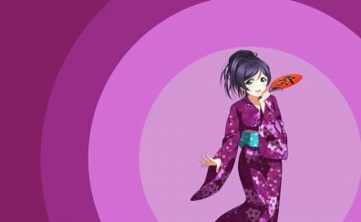 Toujou Nozomi, Love Live!, anime girl, minimal