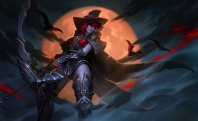Fantasy artwork of girl warrior