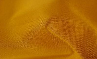 Yellow fabric, textile, texture, close up