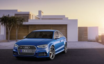 Blue Audi S3 luxury car