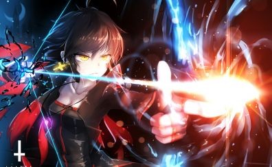 Angry anime girl, archer, Pixiv Fantasia T