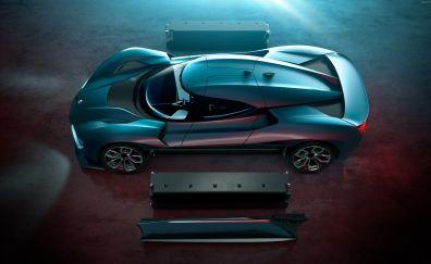 Nio EP9 Supercar, Electric car, top view