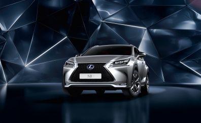 2017 Lexus NX - Luxury Crossover hybrid silver car