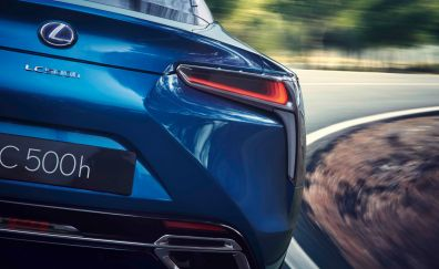 2018 Lexus LC500h Hybrid Coupe car rear view