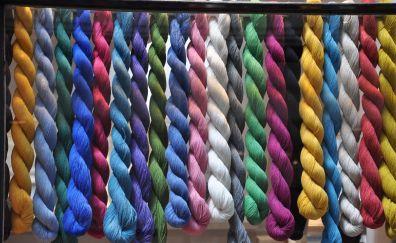 Colored wool, wool