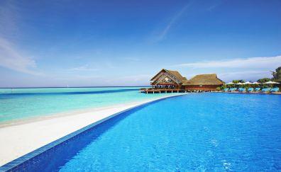 Maldives tropical sea beach