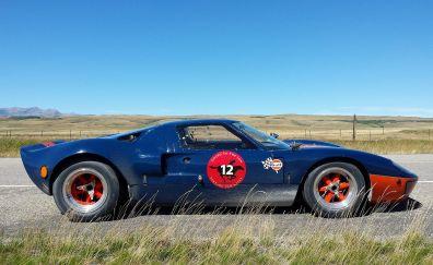 Ford GT40, roadster, sports car, landscape