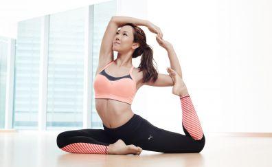 Yoga, Asian, model