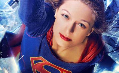 Melissa Benoist as supergirl, tv show, face
