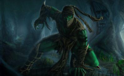 Mortal kombat game, fighting reptile, fan art