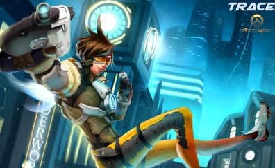 Tracer artwork, overwatch video game, gaming