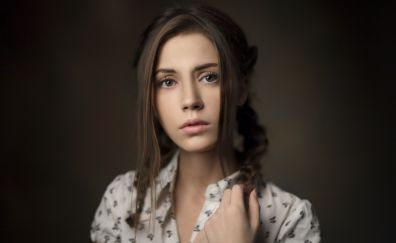 Xenia kokoreva, girl, model, face