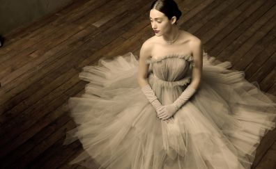 Emmy Rossum, white dress, celebrity