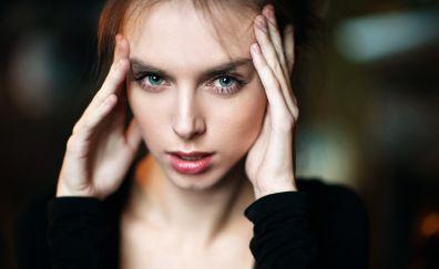 Vika Viktoriya, girl model, face