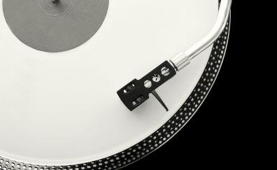 Turntable record, music, monochrome