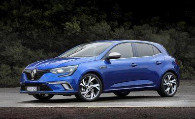 Renault Mégane car, blue car