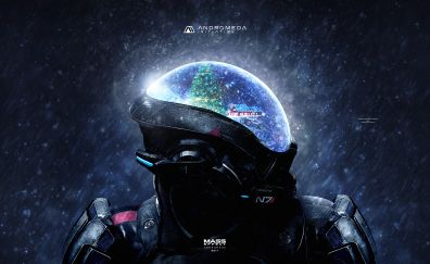 Mass Effect: andromeda video game, Christmas artwork