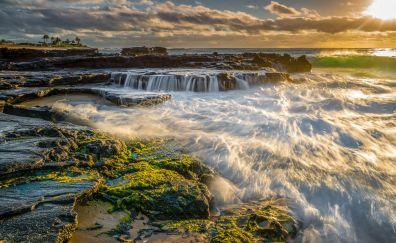 Rocky shore, sea, nature
