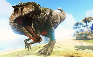Ark: Survival Evolved, video game, angry dinosaur