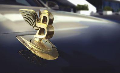 Bentley Mulsanne, car, logo, 2017